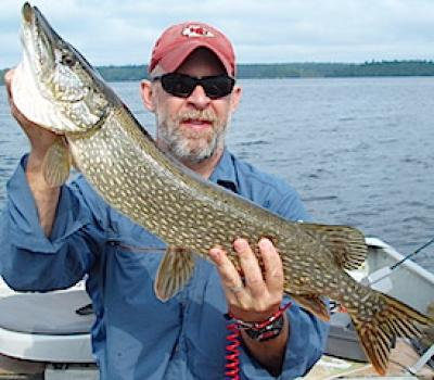 Sunny Day Big Northern Pike Fishing at Fireside Lodge in Canada