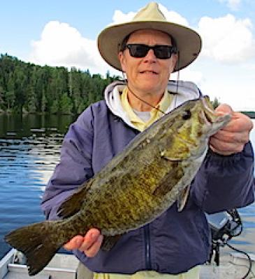 Extra Large Trophy Smallmouth Bass Fishing at Fireside Lodge in Canada