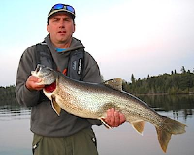 Super Giant Trophy Lake Trout Fishing at Fireside Lodge in Canada