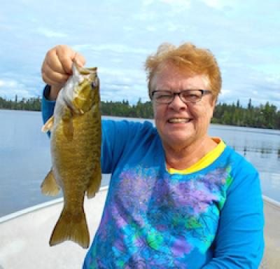 Great Smallmouth Bass Fishing for Ladies at Fireside Lodge in Canada