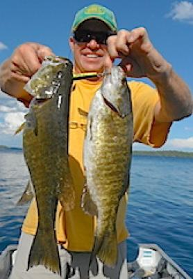 Two Trophy Smallmouth Bass Fishing at Fireside Lodge in Canada