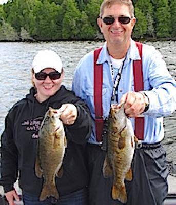 Double Trophy Smallmouth Bass Fishing at Fireside Lodge in Ontario Canada