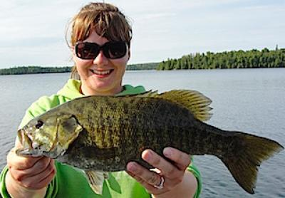 Trophy Smallmouth Bass Over 20-inches Fishing at Fireside Lodge in Canada