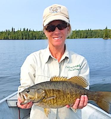 Big Bruiser Trophy Smallmouth Bass at Fireside Lodge in Canada