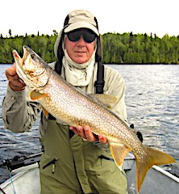 Common Lake Trout Fishing at Fireside Lodge in Canada