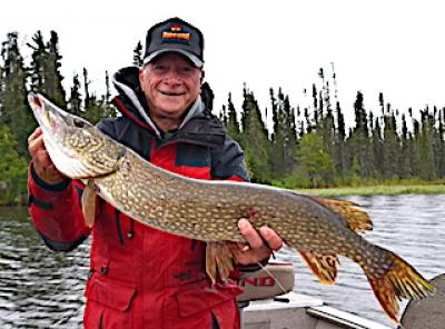 BIG Pike Early Spring Fishing at Fireside Lodge in Canada