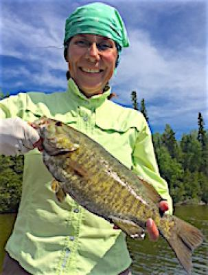 My First Trophy Smallmouth Bass Fishing at Firesde Lodge in Canada