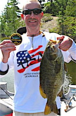 Massive Master Anglers Trophy Smallmouth Bass at Fireside Lodge in Canada