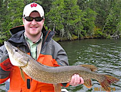 Super Great Nortern Pike Fishing at Fireside Lodge in Canada