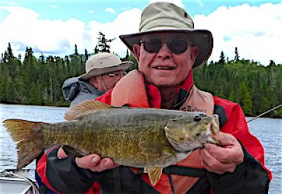 Super Fun Fishing for Large Smallmouth Bass at Fireside Lodge in Canada
