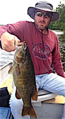 Great Trophy Smallmouth Fishing at Fireside Lodge in Canada