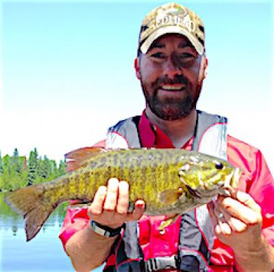 Sunny Trophy Smallmouth Bass Fishing at Fireside Lodge in Canada