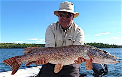 Trophy Northern Pike Fishing at Fireside Lodge in Ontario Canada