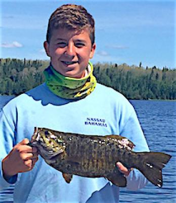 Father Son Trophy Fishing Smallmouth Bass at Fireside Lodge in Canada