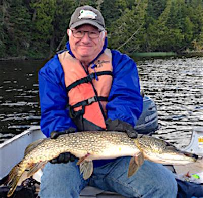Bat Lure Fishing for BIG Northern Pike at Fireside Lodge