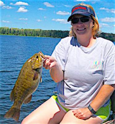 Gorgeous Day Trophy Smallmouth Bass Fishing at Fireside Lodge in Canada