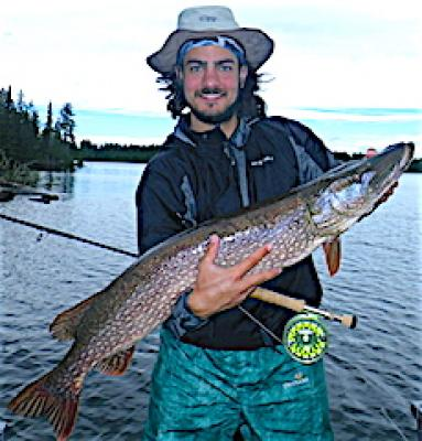 Trophy Northern Pike Fly Fishing at Fireside Lodge in Canada