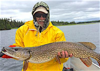 BIG Northern Pike on Rainy Days Fishing at Fireside Lodge in Canada