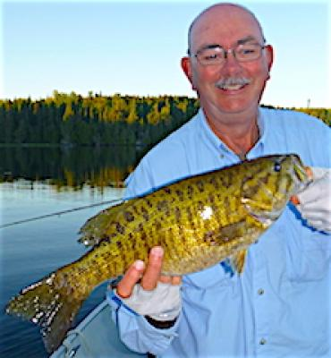 Perfect Trophy Smallmouth Bass Fishing at Fireside Lodge in Canada