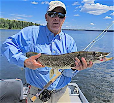 GREAT Fly Fishing for Northern Pike at Firesde Lodge in Canada