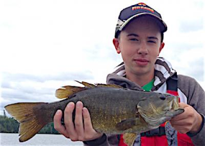 BIG Smallmouth Bass Fishing Rods at Fireside Lodge in Canada