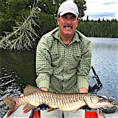 Tiger Muskie are Great Fishing at Fireside Lodge in Canada