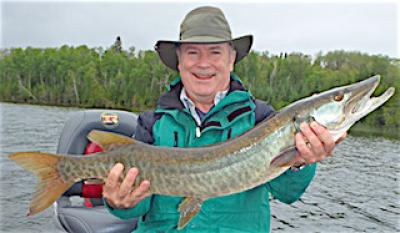 Super Muskie Catch Fishing at Fireside Lodge in Canada
