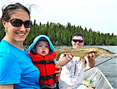 Great Family Fishing for Pike at Fireside Lodge in Canada