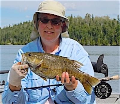 Ladies Fly Fishing Smallmouth Bass at Fireside Lodge in Canada