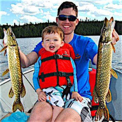 Double Northern Pike Fishing at Fireside Lodge in Canada