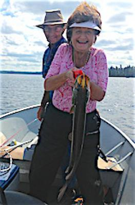 Having Fun Northern Pike Fishing at Fireside Lodge in Canada