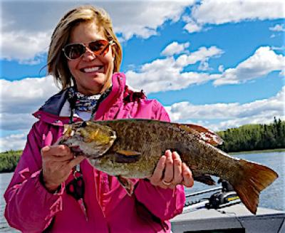 Looking Good Fishing Trophy Smallmouth Bass at Fireside Lodge in Canada