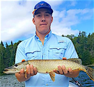 Newly Weds Northern Pike Fishing at Fireside Lodge in Canada