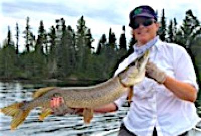 Large Northern Pike are Nice Fishing at Fireside Lodge in Canada