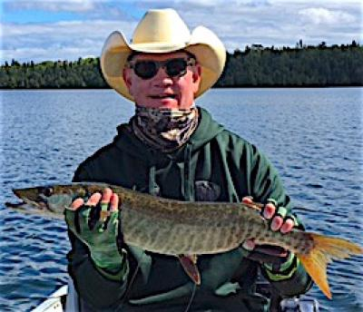 Roping Muskie is a Blast Fishing at Fireside Lodge in Canada