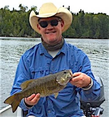 Big Hat BIG Smallmouth Bass Fishing at Fireside Lodge in Canada