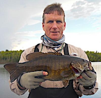 Big Smallmouth Bass are Common in May Fishing at Fireside Lodge in Canada