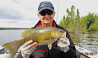 Huge Pre Spawn May Smallmouth Bass Fishing at Fireside Lodge in Canada