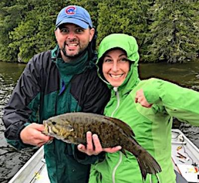 Trophy 19.5-inch Smallmouth Bass Fishing at Fireside Lodge in Canada