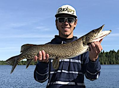 Fun Northern Pike Fishing with Dad at in Ontario Canada