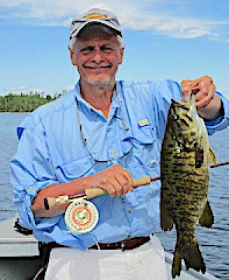Many Smallmouth Bass Trophies Fly Fishing at Fireside Lodge in Canada