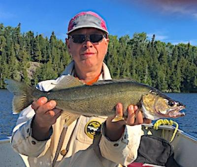 Sunny Day Walleye Fishing at Fireside Lodge in Canada