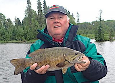 BIG Brawny Trophy Smallmouth Bass Fishing at Fireside Lodge in Canada