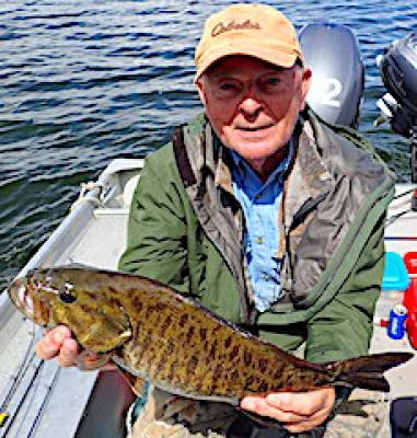 Ned Rig Trophy Smallmouth Bass Fishing at Fireside Lodge in Canada