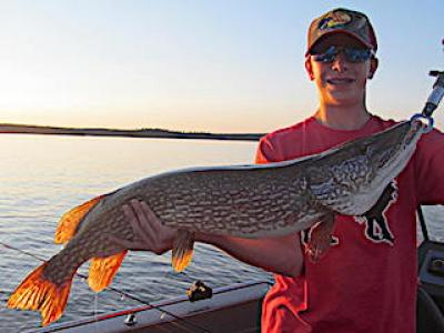 Big Northern Pike Fishing With Brothers at Fireside Lodge in Canada