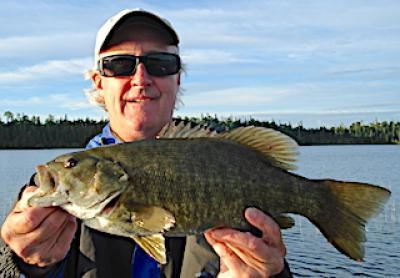 Best Friends Trophy Smallmouth Bass Fishing at Fireside Lodge in Canada