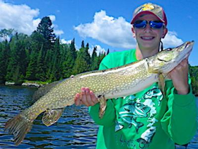 Good Time With Family Northern Pike Fishing at Fireside Lodge in Canada