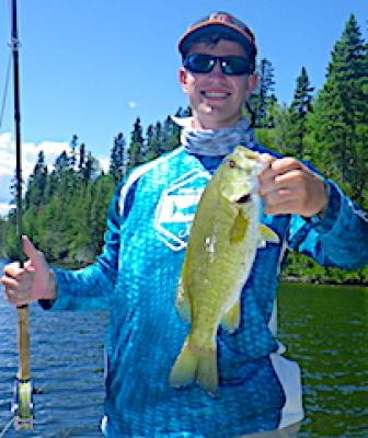 First Smallmouth Bass Fly Fishing at Fireside Lodge in Canada
