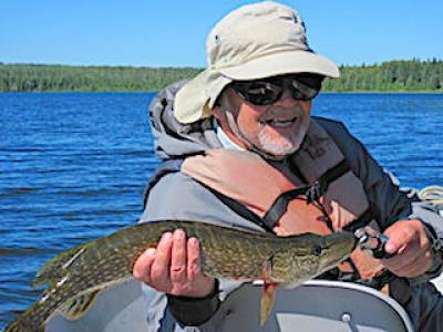 Many Pike Many Fly Fishing at Fireside Lodge in Canada
