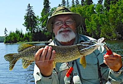 Super Fly Fishing for Northern Pike at Fireside Lodge in Canada